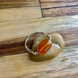 Local Artist Glass Wire Ring.